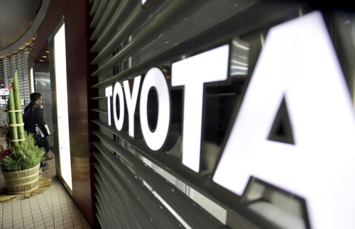 """(AP Photo/Shizuo Kambayashi) """"Toyota is in the position -- for the first time in years -- where it is beating market expectations, while its peers are disappointing,"""" Clive Wiggins, a Tokyo-based autos analyst for Macquarie, said in a recent note to clients. """"We expect earnings to continue beating expectations over the next three years."""""""