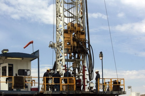 Kim Raff | The Salt Lake Tribune Drilling operations in eastern Utah helped boost energy production and manufacturing activity in Utah.