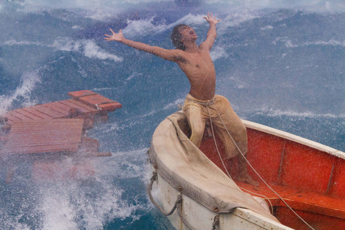 """This film image released by 20th Century Fox shows Suraj Sharma as Pi Patel in a scene from """"Life of Pi."""" The film was nominated for an Academy Award for best picture on Thursday, Jan. 10, 2013.  The 85th Academy Awards will air live on Sunday, Feb. 24, 2013 on ABC.  (AP Photo/20th Century Fox, Peter Sorel)"""