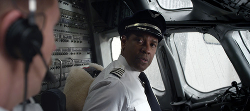 """This film image released by Paramount pictures shows Denzel Washington in a scene from """"Flight."""" Washington was nominated  for an Academy Award for best actor on Thursday, Jan. 10, 2013, for his role in the film. The 85th Academy Awards will air live on Sunday, Feb. 24, 2013 on ABC.  (AP Photo/Paramount Pictures)"""