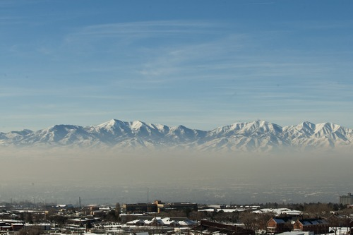 Chris Detrick  |  The Salt Lake Tribune The inversion over the Salt Lake Valley as seen from the Utah Museum of Natural History Wednesday January 9, 2013.