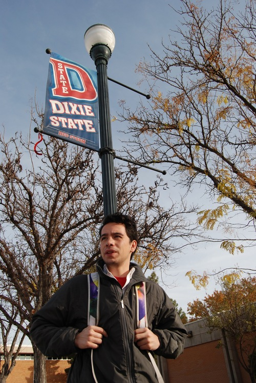 Brian Maffly | The Salt Lake Tribune Brody Mikesell, Dixie State College's student president, supports dropping the word Dixie from the school's name as it transitions to a university.