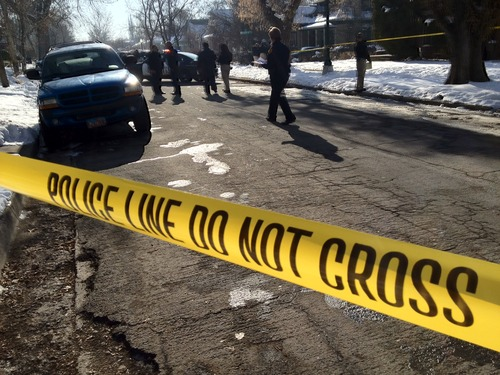 Rick Egan | The Salt Lake Tribune U.S. Marshals shot and killed an armed robbery suspect early Wednesday afternoon on Lake Street, near 800 East and 900 South.