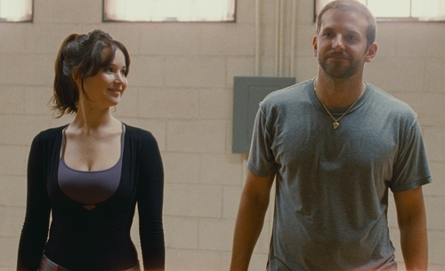 "Courtesy The Weinstein Company Jennifer Lawrence (left) and Bradley Cooper star in ""Silver Linings Playbook."""