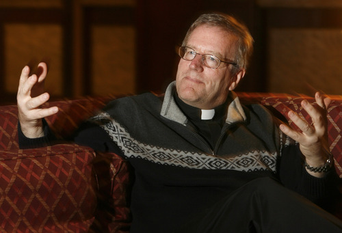 Rick Egan    The Salt Lake Tribune   The Rev. Robert Barron, a Chicago area Catholic priest and prominent theologian who visited Salt Lake City to speak at a conference, says the beauty of faith can bring people back to God. Wednesday, January 9, 2013.
