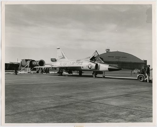 Salt Lake Tribune file photo  A fighter sits on the tarmac at Hill Air Force Base in 1959.