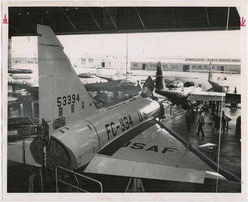 Salt Lake Tribune file photo  This photo shows a hangar at Hill Air Force Base in 1957.