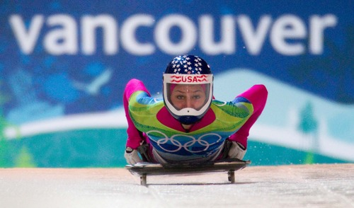Trent Nelson  |  The Salt Lake Tribune Noelle Pikus-Pace, USA, Women's Skeleton, at the XXI Olympic Winter Games in Whistler, Thursday, February 18, 2010.