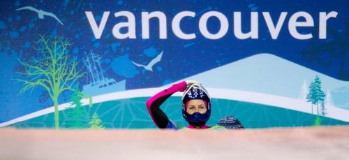 Trent Nelson  |  The Salt Lake Tribune Noelle Pikus-Pace, USA, Women's Skeleton, at the XXI Olympic Winter Games in Whistler, Thursday, February 18, 2010.