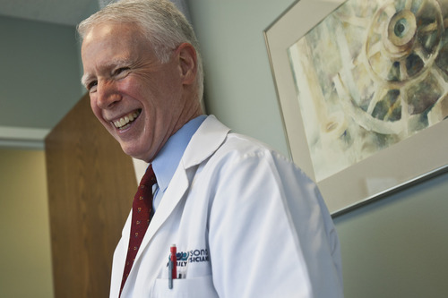 Chris Detrick     The Salt Lake Tribune Tired of assembly-line medicine and the headaches of dealing with insurance companies, family pratice doctor Michael Jennings, 63, stopped accepting insurance in 2009. He opened a new practice where, for an annual flat rate, patients can see him as often as needed.
