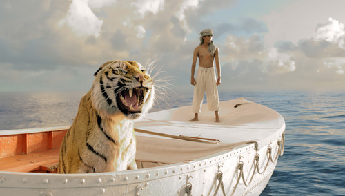 """This publicity film image released by 20th Century Fox shows Suraj Sharma in a scene from """"Life of Pi,"""" directed by Ang Lee. Best-picture prospects for Oscar Nominations on Thursday, Jan. 10, 2013, include, """"Life of Pi."""" (AP Photo/20th Century Fox, Jake Netter, File)"""