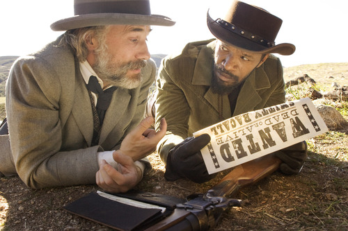 """This undated publicity image released by The Weinstein Company shows, from left, Christoph Waltz as Schultz and Jamie Foxx as Django in the film, """"Django Unchained."""" Waltz was nominated  for an Academy Award for best supporting actor on Thursday, Jan. 10, 2013, for his role in the film.  The 85th Academy Awards will air live on Sunday, Feb. 24, 2013 on ABC. (AP Photo/The Weinstein Company, Andrew Cooper, SMPSP)"""