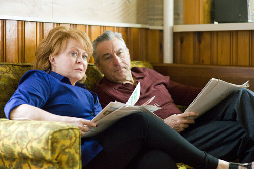 """FILE - This publicity film image released by The Weinstein Company shows Jacki Weaver, left, and Robert De Niro in """"Silver Linings Playbook.""""  Weaver and De Niro were nominated  for an Academy Award for best supporting actress and actor on Thursday, Jan. 10, 2013, for their roles in """"Silver Linings Playbook."""" The 85th Academy Awards will air live on Sunday, Feb. 24, 2013 on ABC. (AP Photo/The Weinstein Company, JoJo Whilden, File)"""