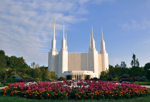 photo courtesy LDS Church  The Washington, D.C., Temple of The Church of Jesus Christ of Latter-day Saints.