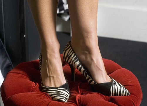 Kim Raff   The Salt Lake Tribune Model Jennifer Eberling wears Zebra Ladylike heels ($128, from White House Black Market), one example of how to step up your work style and get out of a style rut.