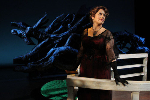 "Francisco Kjolseth  |  The Salt Lake Tribune Utah Opera's first Spanish-language opera, ""Florencia en el Amazonas,"" with Cynthia Clayton (Florencia Grimaldi), is about what happens when a legendary diva takes a voyage down the Amazon. Romance and magical realism ensue."