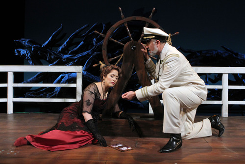 "Francisco Kjolseth  |  The Salt Lake Tribune Utah Opera's first Spanish-language opera, ""Florencia en el Amazonas,"" with Cynthia Clayton (Florencia Grimaldi) and Hector Vásquez (el Capitán)  is about what happens when a legendary diva takes a voyage down the Amazon. Romance and magical realism ensue."