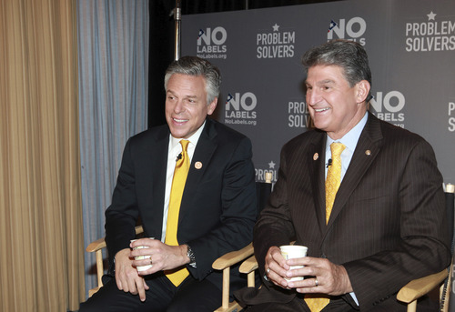 Former Utah Gov. Jon Huntsman, right, and Sen. Joe Manchin, D-W.V., are the newly named leaders of No Labels, a nonpartisan policy group that is trying to push politicians to put solutions above party. Courtesy No Labels
