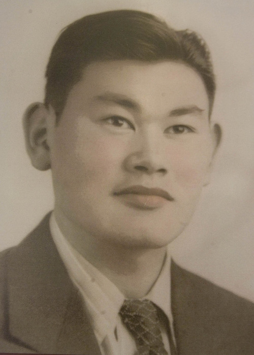 Paul Fraughton  |   The Salt Lake Tribune A photo of Fred Korematsu as a young man.