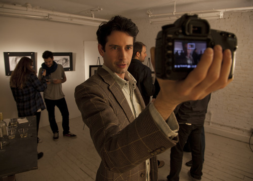 """Courtesy of Paper Chain Productions Andrew Pastides plays Hank, a lonely filmmaker who starts a video correspondence with a Prague student in """"Hank and Asha,"""" directed by husband-wife team James E. Duff and Julia Morrison."""