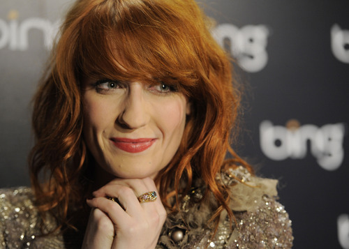 Florence Welch of the band Florence + The Machine poses at the Official Bing Bar After-Party at the 2011 Sundance Film Festival in Park City, Utah, Saturday, Jan. 22, 2011. (AP Photo/Chris Pizzello)