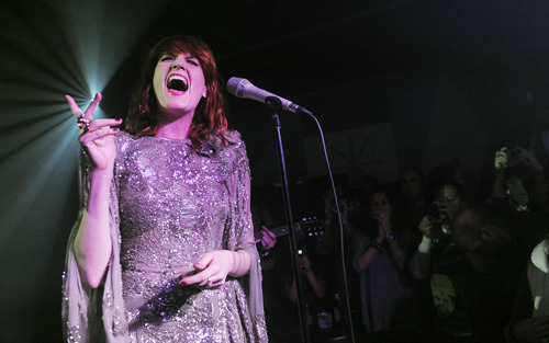 Florence Welch of the band Florence + The Machine performs at the Official Bing Bar After-Party at the 2011 Sundance Film Festival in Park City, Utah, Saturday, Jan. 22, 2011. (AP Photo/Chris Pizzello)