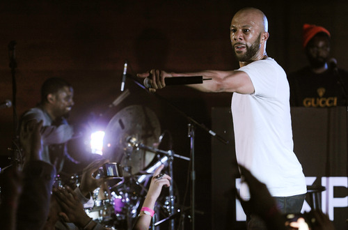 """Common, a cast member in """"LUV,"""" performs onstage at the Express after-party for the film at the 2012 Sundance Film Festival in Park City, Utah, Monday, Jan. 23, 2012. (AP Photo/Chris Pizzello)"""
