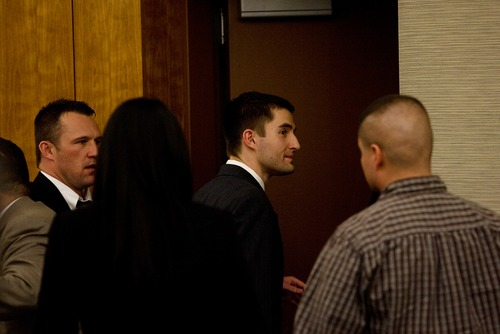 Mark Johnston     Daily Herald Martin Bond is led from the courtroom Friday after being found guilty in 4th Judicial District Court in American Fork of killing former BYU professor Kay Mortensen in November 2009.