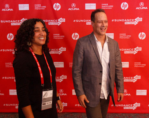 Trent Nelson  |  The Salt Lake Tribune Editor Geeta Gandbhir and director Sebastian Junger at the Sundance Film Festival premiere of the film Which Way is the Front Line From Here? The Life and Time of Tim Hetherington, Sunday, January 20, 2013 in Park City.