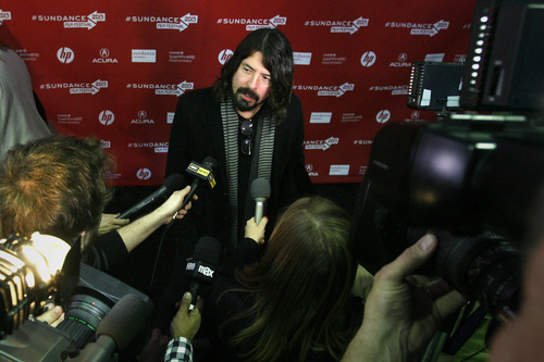 "Rick Egan  | The Salt Lake Tribune   Dave Grohl, Scream, Foo Fighters, Nirvana, at the world premiere of the film he directed, ""Sound City,"" at the Marc in Park City, Utah, Friday, January 18, 2013."