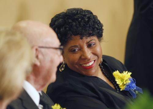 Al Hartmann  |  The Salt Lake Tribune Jeanetta Williams, NAACP, Salt Lake Branch at the Dr. Martin Luther King Jr. Memorial Luncheon at the Little America Monday January 21.