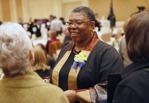 Al Hartmann  |  The Salt Lake Tribune Debra Daniels was awarded the Rosa Parks Award at the Dr. Martin Luther King Jr. Memorial Luncheon at Little America Monday January 21.