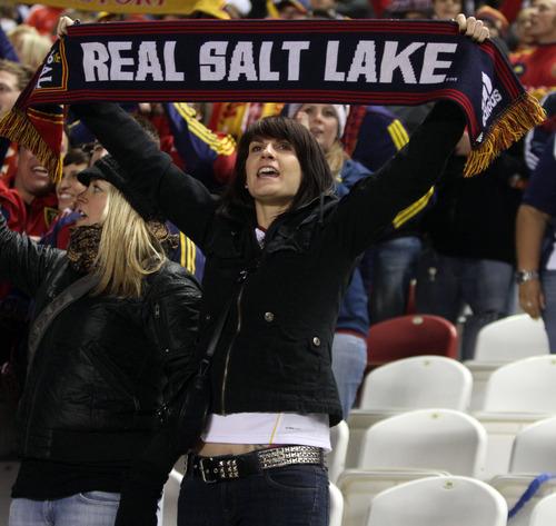 Rick Egan  | The Salt Lake Tribune   Real Salt Lake fans cheer during MLS soccer action, Real Salt Lake vs FC Dallas, in Sandy, Saturday, May 26, 2012.