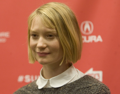 "Kim Raff  |  The Salt Lake Tribune Mia Wasikowska is photographed on the red carpet for the premiere screening of ""Stoker"" at the Eccles Theatre during the Sundance Film Festival in Park City on January 20, 2013."