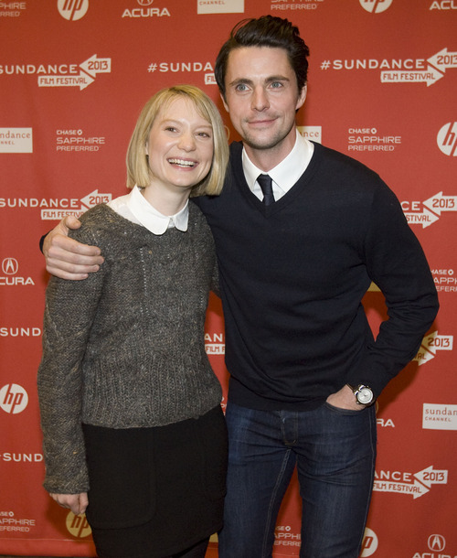 "Kim Raff  |  The Salt Lake Tribune (left) Actors Mia Wasikowska and Matthew Goode are photographed on the red carpet for the premiere screening of ""Stoker"" at the Eccles Theatre during the Sundance Film Festival in Park City on January 20, 2013."
