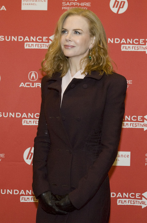 "Kim Raff  |  The Salt Lake Tribune Actress Nicole Kidman is photographed on the red carpet for the premiere screening of ""Stoker"" at the Eccles Theatre during the Sundance Film Festival in Park City on January 20, 2013."