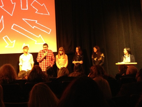 """The cast of """"Emanuel and the Truth About Fishes,"""" including Kaya Scodelario, second from right."""
