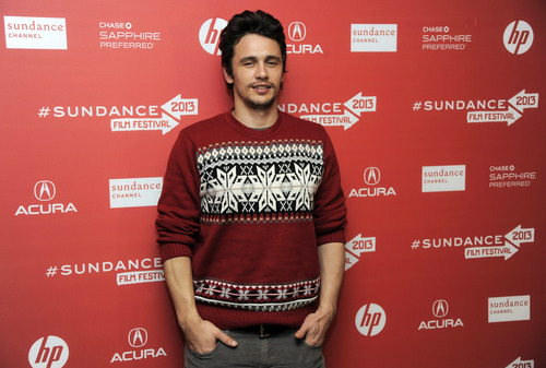 """James Franco, producer of the documentary film """"kink,"""" poses at the premiere of the film at the 2013 Sundance Film Festival, Saturday, Jan. 19, 2013, in Park City, Utah. (Photo by Chris Pizzello/Invision/AP)"""