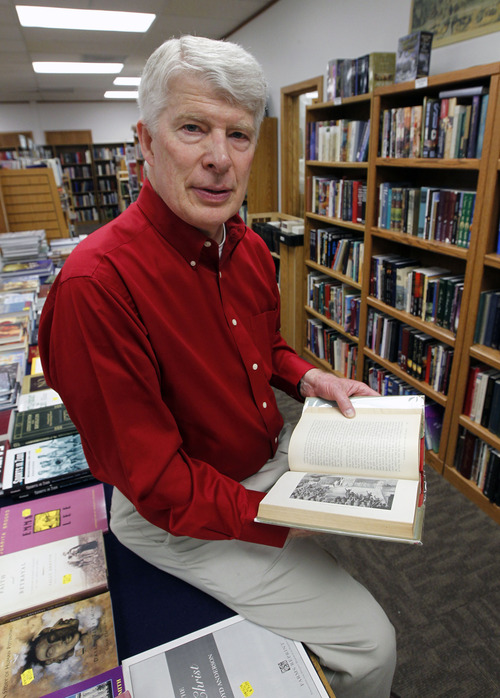 Al Hartmann  |  The Salt Lake Tribune Benchmark Books, which specializes in LDS books and western United States authors, has turned 25. The owner, Curt Bench, above, had a thriving business when the Mark Hofmann case changed everything. A lover of rare Mormon books, Bench had to start over, opening his own store.