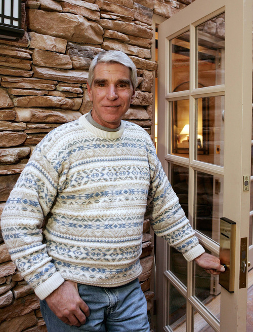 "Co-star Harry Reems from the original film ""Deep Throat,"" poses in Park City during the Sundance Film Festival Saturday, Jan. 22, 2005.  (AP Photo/Kevork Djansezian)"