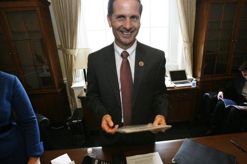Scott Sommerdorf     Tribune file photo Congressman Chris Stewart, R-Utah, gave his first speech from the House floor earlier this month.