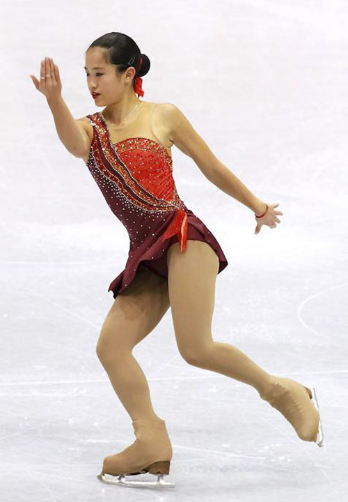 Angela Wang is a Utah native figure skater who has an excellent shot at representing the United States in the 2014 Winter Olympics. Photo courtesy Robin Ritos.