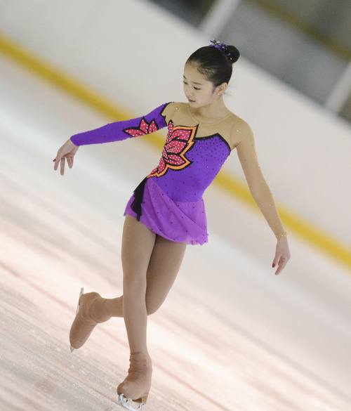Courtesy QuickSilverShots Hina Ueno is one of eight Utah figure skaters to qualify for nationals this year.
