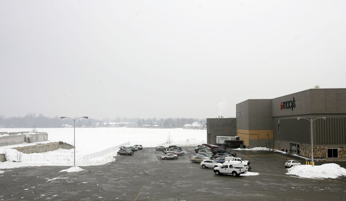Rick Egan  |  The Salt Lake Tribune  Macy's department store sits all alone at the site of the old Cottonwood Mall.