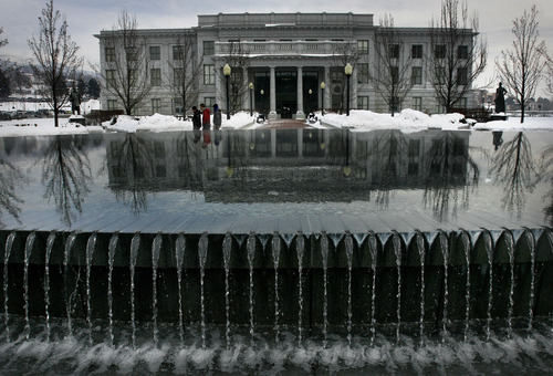 Scott Sommerdorf   |  The Salt Lake Tribune Looking east at the Senate building adjacent to the Utah State Capitol building, Wednesday, January 23, 2013.