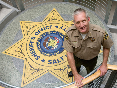 Al Hartmann  |  Salt Lake Tribune  Salt Lake County Sheriff Jim Winder, seen here in this 2010 photo, does not support the letter his Utah peers sent to president Obama regarding gun control.