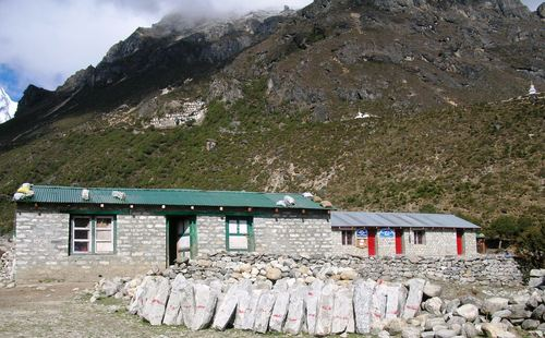 The school in Thame, Nepal, was built by Sir Edmund Hillary in 1963. Apa Sherpa attended the school and then went on to become the world record holder for summiting Mount Everest (21). He now lives in Utah and has started the Apa Sherpa Foundation and plans to renovate the school. Courtesy of Apa Sherpa Foundation