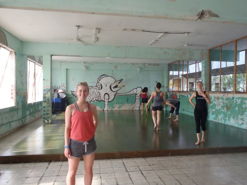 Courtesy image University of Utah dance students prepare for a master class from a local teacher with Melissa Williams and Movement Exchange director Anna Pasternak, while on a cultural exchange program in Panama in 2012.