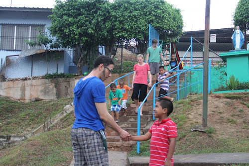Courtesy image Orphan boys at Malambo Orphanage in Panama City who greeted University of Utah dancers Scotty Hardwig and Emily Jane Weaver and assistant professor Juan Carlos Claudio, who participated in a cultural exchange in Panama in 2012.