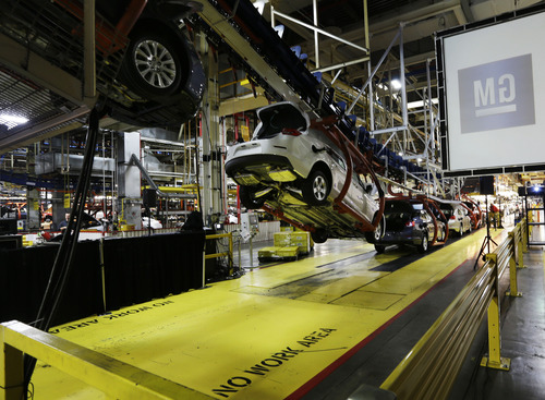 """(AP Photo/Orlin Wagner) To recover all of its investment in GM, Treasury would need to sell the General Motors Co. shares it still holds at an average """"break-even"""" price of $71.86 each -- more than double their current price of around $28."""